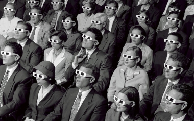 Cinema audience 3D glasses