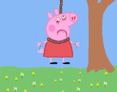 Peppa hanging